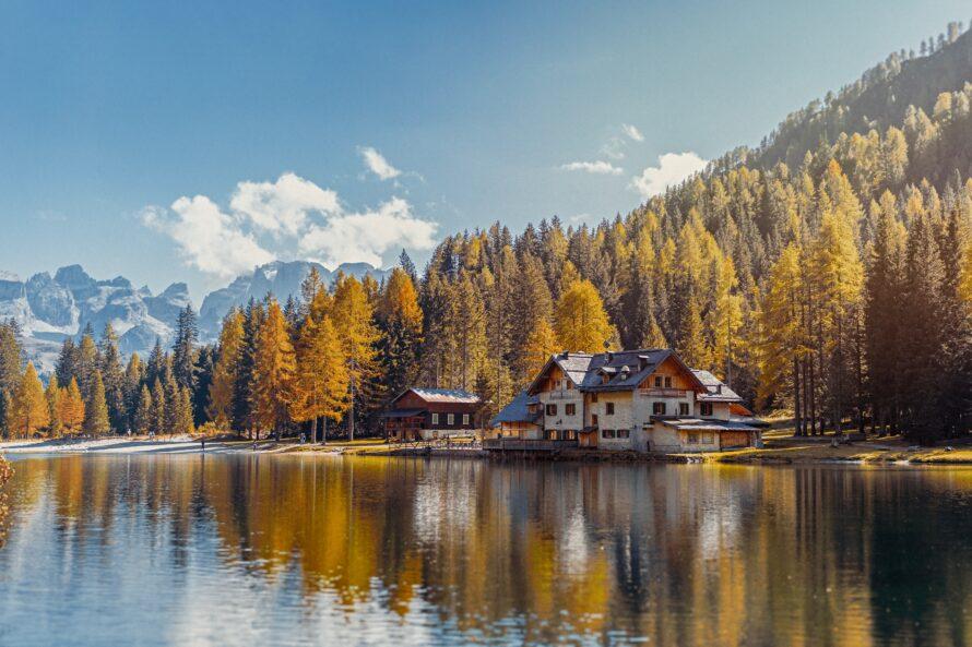 lago nambino autunno