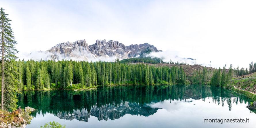 lago di carezza panorama dopo vaia