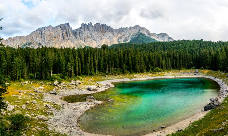 panorama lago di carezza