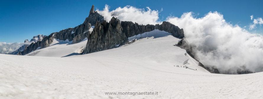 panorama foto ghiacciaio monte bianco