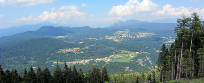 Panorama verso Lavarone
