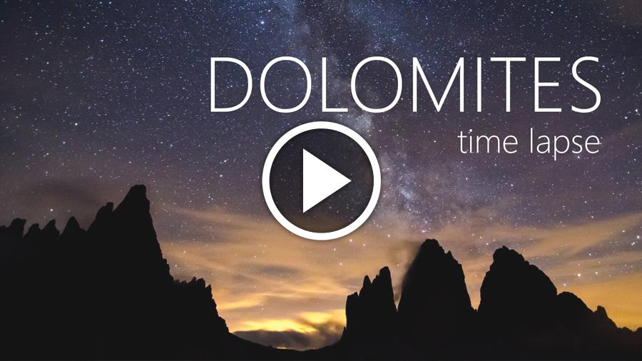 Video time-lapse: i paesaggi delle Dolomiti in Estate